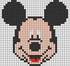 Alpha friendship bracelet pattern added by mickey head mouse disney. Perler Patterns, Loom Patterns, Beading Patterns, Crochet Patterns, Crochet Pixel, Graph Crochet, Bead Crochet, Cross Stitch Charts, Cross Stitch Patterns