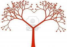 A heart shaped tree for the finger prints =)