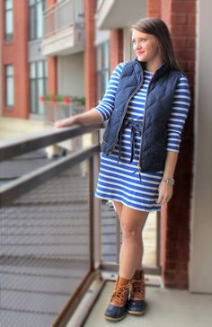 L.L.Bean Boots and French Sailor Dress