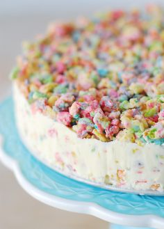 Save this creative dessert recipe to make a Fruity Pebble Crunch Ice Cream Cake.