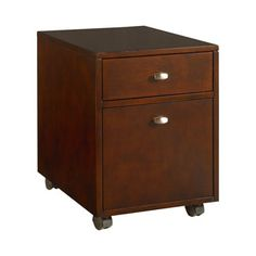 """Hammary Tribecca Item#: 912-941 File/drawer Cabinet  Description: 2 Drawers, File Storage in Bottom Drawer, Casters  Dimensions:22.00""""H x 16.00""""W x 22.00""""D"""