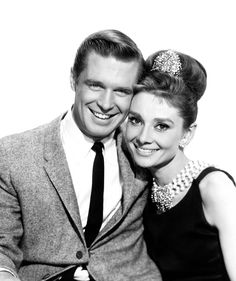 What a lovely pair! George Peppard and Audrey Hepburn from Breakfast at Tiffany's