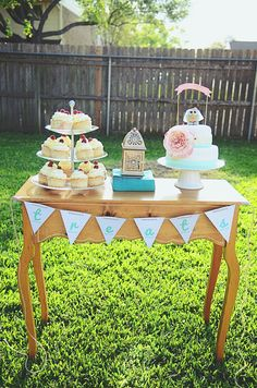 Backyard Bridal Shower by Dana Fernandez Photography Love the idea of using indoor tables outside for the shower!