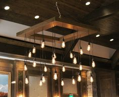 Our Edison Bulb Chandelier provides the extra lighting you need at your event while still having the style you want.