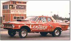 Bill Wakeman's '62 Plymouth hemi gasser at the Keystone Bison Dragways