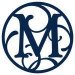circle flourish monogram m