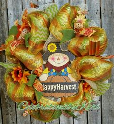 Fall wreath I made and had a drawing for last week. $2 entries for a full size beautiful fall wreath.