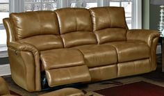 Lewis Camel Leather Power Reclining Sofa