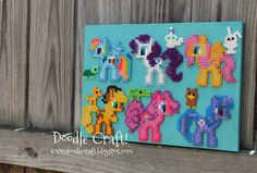 I can't wait to try this Perler Bead project!    Doodle Craft...: My Little Pony Perler Bead Art!