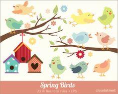 Digital Clipart The Best Nest Cute Birds Clip Art by StudioShine