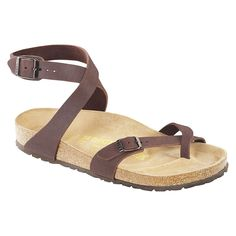 Shop the Birkenstock Women s Birkibuc Yara Leather Sandal in Mocha and  other Birkenstock Sandals at Country 60be9f087a4