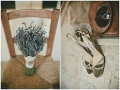 lavender bouquet and Jimmy Choo shoes at Cyprus Rustic Wedding at Tochi