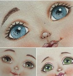 dollfacepainting - Her Crochet Acrylic Face Painting, Doll Face Paint, Fabric Toys, Matryoshka Doll, Sewing Dolls, Doll Eyes, Doll Repaint, Waldorf Dolls, Doll Hair