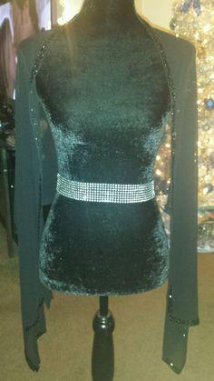 Black Beaded Wrap Shawl #Formal #ShawlWrap #Beaded #Prom #Evening