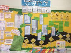 KS2 working wall.