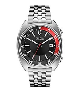 018399b54ce Bulova Accutron II Black and Red Dial Stainless Steel Quartz Mens Watch  96B210    Details