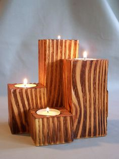 Tea Light Candle Holders by MiscKDesigns on Etsy, $15.00