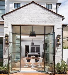 white brick exterior home / #architecture #design