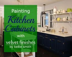 Tired of your kitchen? Let me share just how easy it is paint kitchen cabinets with Velvet Finishes. The 1-2-3 step process is so easy, even I can do it!