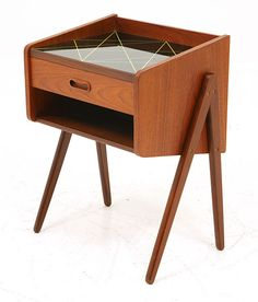 Danish Modern Teak Bedside Table