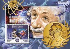 memorial anniversary of Albert Einstein Albert Einstien, Stamp Collecting, Sierra Leone, Postage Stamps, Wonders Of The World, Collaboration, Einstein, Literature, Medicine