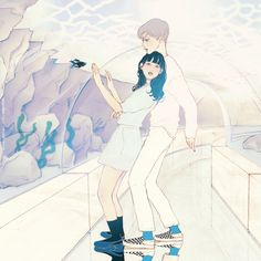 704번째 이미지 Creative Pictures, Pictures To Draw, Character Illustration, Illustration Art, Romance Comics, Scratch Art, Korean Art, Couple Art, Gifs