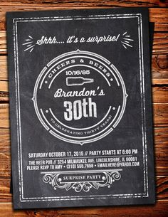 Cheers and Beers invitation beer 21st 30th 40th by LyonsPrints
