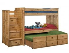 Mom's Bunk House ! We offer a wide selection of Bunk Beds for kids. Our Bunk Beds and Kids' Loft Beds come in a wide range of sizes, styles, and designs - ensuring that you'll find a bed that both you and your child love! Loft Bunk Beds, Bunk Bed With Trundle, Bunk Beds With Stairs, Kids Bunk Beds, Loft Bedrooms, Master Bedrooms, House Bunk Bed, Triple Bunk Beds, Furniture