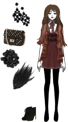 Time for fashion 16 by FallenChibi on DeviantArt Character Inspiration, Character Design, Style Inspiration, Twilight Outfits, Manga Clothes, Deviantart, Anime Outfits, Fashion Sketches, Fashion Art