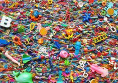 Greetings card It's Only a Game 2014 flotsam by FlotsamWeaving, beach find collage art photography print of old toys washed up Waste Art, Beyond The Horizon, Pink Bottle, Pink Plastic, New Gadgets, Recycled Art, Sculpture, Community Art, Collage Art