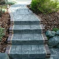 Ashler Slate with Brick Edging