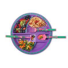 GARDEN PLATE & UTENSILS | Children's Dishes, Constructive Eating | UncommonGoods