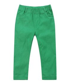 Look what I found on #zulily! Kelly Green Elastic-Waist Pants - Infant, Toddler & Girls #zulilyfinds