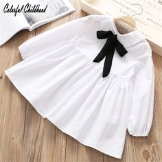 Cheap designer girls dress, Buy Quality girls designer dress directly from China girls dress Suppliers: Spring 2018 new Girls Dress velvet bow knot design shirt dress baby vestidos toddler kids clothes Children Clothing Girls Designer Dresses, Dresses Kids Girl, Kids Outfits Girls, Cute Outfits For Kids, Kids Girls, Baby Girl Fashion, Kids Fashion, Babe, Cheap Baby Clothes