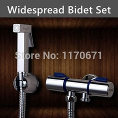57.34$  Watch now - http://alikd4.worldwells.pw/go.php?t=1868712753 - Hand Shower Sprayer Set Chrome Planted Bathroom Bidet Spray + Holder + Double outlet Angle Valves + 1.5M Hose 2 Years Warranty