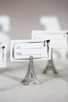 50pcs small vintage eiffel tower place card holder clips paris vintage weddings