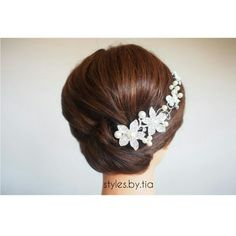 A low Bridal with the perfect accenting hair piece. Instagram@styles.by.tia All Things Beauty, Hair Piece, Bobby Pins, Hair Accessories, Bridal, Earrings, Jewelry, Instagram, Style