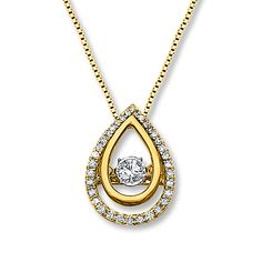 Diamonds in Rhythm 1/4 ct tw Necklace 10K Yellow Gold