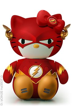 Hello Flash. Okay---favorite superhero and favorite cute thing. I must have this. Right now.