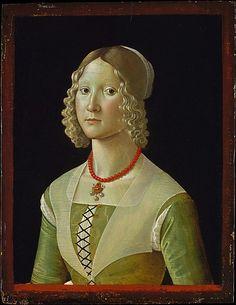 Selvaggia Sassetti (born 1470) by   Davide Ghirlandaio (David Bigordi)     ca. 1487–88