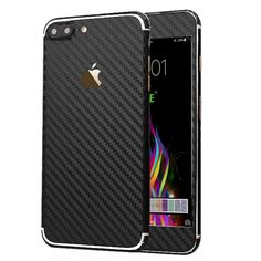 iPhone 7 Plus Sticker, Toeoe Luxury 3D Textured Carbon Fibre Decal Skin with a C #Toeoe