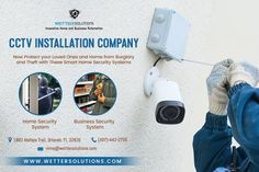 Wetter Solutions deliver the best CCTV installation service that is reliable and affordable. They also offer an effective security products that enables their clients to protect their valuable property. Smart Home Security, Computer Security, Security Cameras For Home, Security Products, Security Solutions, Home Security Systems, Cctv Camera Installation, Structured Cabling, Alarm Systems For Home