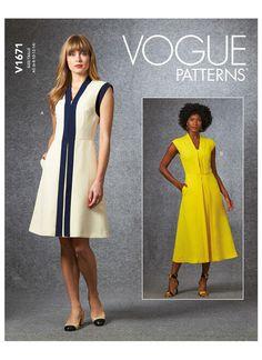 V1671 Vogue Patterns, 15 Dresses, Simple Dresses, Sewing Summer Dresses, Patron Simplicity, Patron Butterick, Simple Dress Pattern, Miss Dress, Dress Sewing Patterns