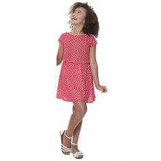 Vestido Poá Vermelho Filha - Hapuk