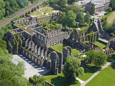 The Abbaye de Villers (Villers Abbey), Villers-la-Ville, Belgium, founded in the 12th century. The earliest buildings no longer exist; the Abbey was completely rebuilt during the 13th century.