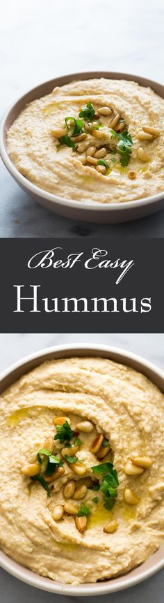 Love hummus? It's so easy to make your own! Takes only 5 minutes, and is so much better than store-bought! #vegan #healthy On SimplyRecipes.com