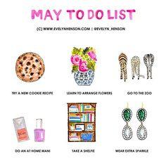#brightlydecoratedlife to do list for May