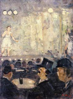 Cabaret -  Edvard Munch 1885-86  oil on cardboard 60 x 44 cm   Stenersenmuseet, Oslo