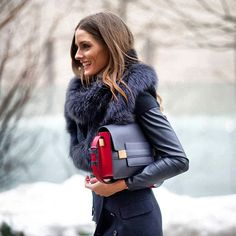 Olivia Palermo in Navy Blue