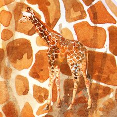 Camouflage giraffe, animal skin, safari art, giraffe, giraffe art, cute animal art, nursery animals Art Print